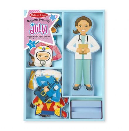 Melissa & Doug Magnetic Dress Up Doll - Julia